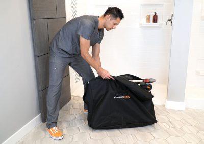 SB7e in travel bag