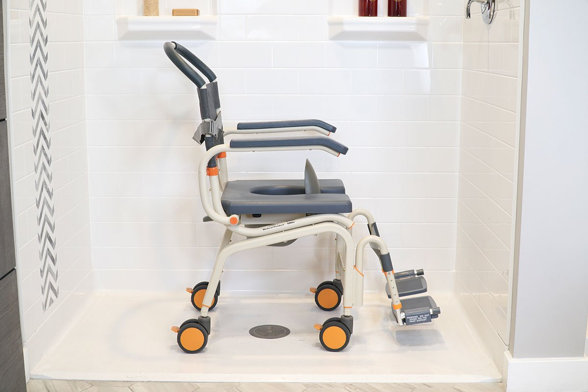 Roll-InBuddy Lite SB6c mobility product suitable for roll-in showers