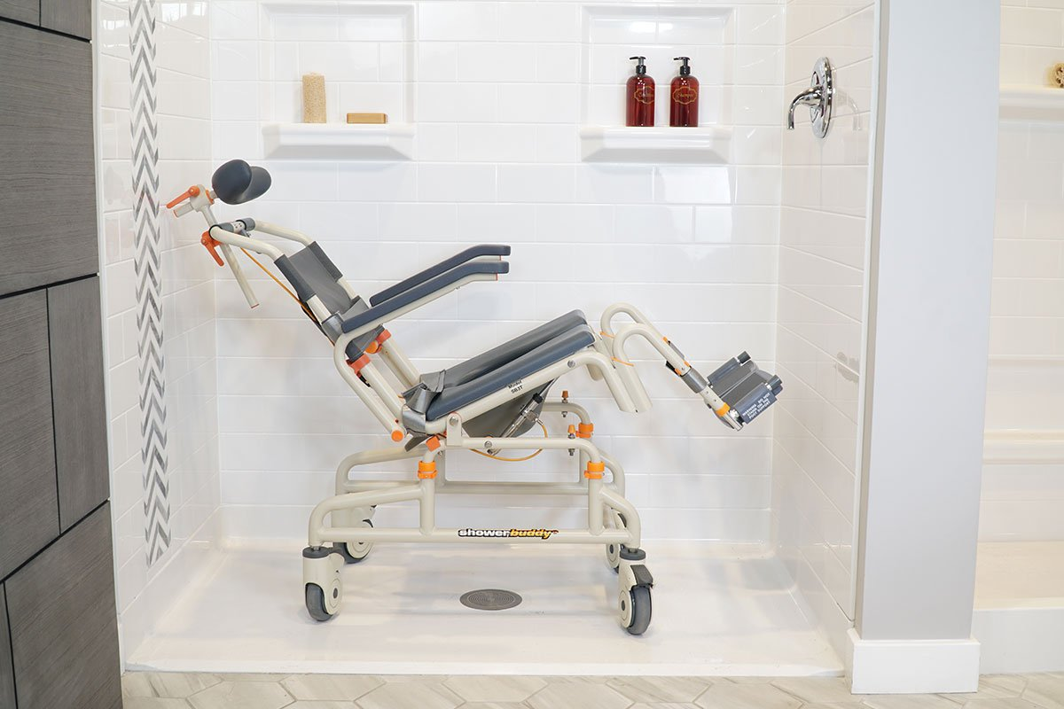 Roll-InBuddy Tilt SB3T suitable for roll-in showers