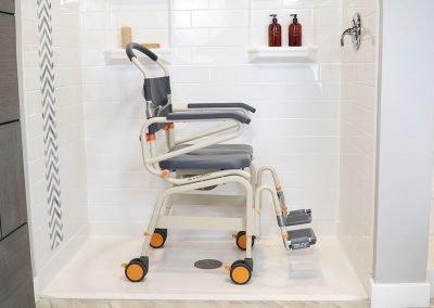 Roll-InBuddy XL SB6c-22 in shower